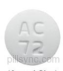 ROUND WHITE AC 72 prednisone tablet