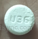 ROUND WHITE U36 acetaminophen and codeine phosphate tablet