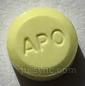 round yellow APO H4 Canada Hydromorphone 4 mg